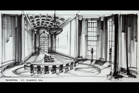Ken Adam Thunderball sketch